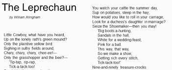 Find below 30 popular rhymes with lyrics that kids will love! Poem The Leprechaun By William Allingham