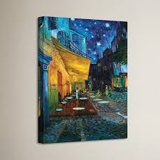 cafe terrace at night by vincent van gogh framed graphic art print on canvas