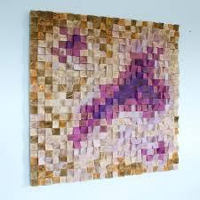 office wall decor. Wood Wall Art, Office Decor, Art Sculpture , Geometric Mosaic, 40 Decor