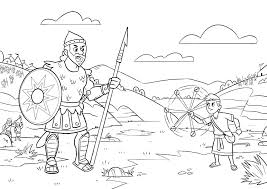 David And Goliath Coloring Page And Coloring Pages For Preschoolers