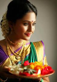 warm maharashtrian bridal look