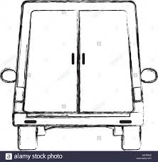 closed door drawing. Grunge Trunk Delivery Service With Closed Doors Door Drawing 9