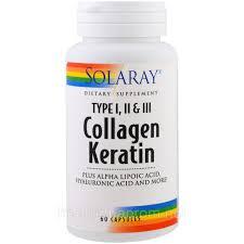 Solaray, <b>Коллаген кератин</b>, <b>тип I</b>, II, III, 60 капсул купить в ...