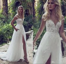 discount a line lace wedding dresses 2018 sheer illusion bodice