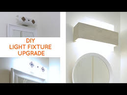 bathroom vanity light fixture. Bathroom Lighting: Quick Fix To Update A Dated Vanity Light - YouTube Fixture .