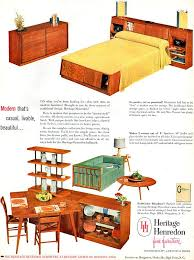 Well Suited Henredon Bedroom Furniture Heritage MID CENTURY MODERN ...