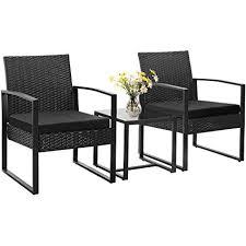 image modern wicker patio furniture. Homall 3 Pieces Patio Furniture Set Bistro Table Modern Outdoor  Sets Cushioned PE Wicker Image Modern Wicker Patio Furniture O