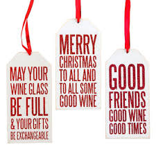 Holiday Wine Bottle Gift Tags Set Of 3 19460