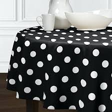 new black white modern polka dot dining room round kitchen tablecloths french country