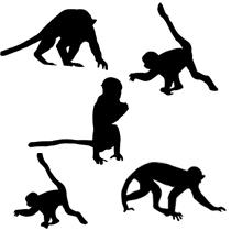 猿 年賀状素材 フリー素材 フリー素材配布サイトシルエット素材ai