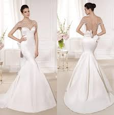 Cheap Satin Mermaid Wedding Dresses