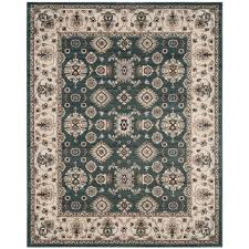 safavieh lyndhurst teal cream 9 ft x 12 ft area rug