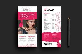 nail salon templates pack brandpacks nail salon dl card template