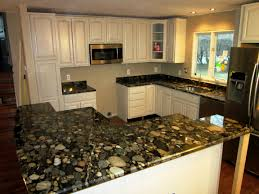 Behind The Scenes Michelles Black Mosaic Gold Granite Kitchen - Granite kitchen