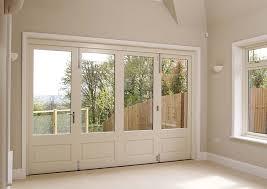 white timber bifold doors internal closed