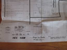 hee haw vtg original pinball machine schematic wiring diagram here s your opportunity to own this great vintage hee haw original pinball machine schematic wiring diagram by chicago coin it is in good condition no