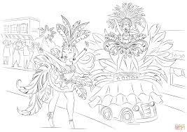 Braziliaans Carnaval Kleurplaat Gratis Kleurplaten Printen