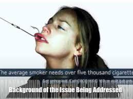 visual argument presentation on tobacco ad