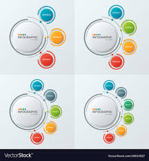 Circle Chart Infographic Templates With 3 6