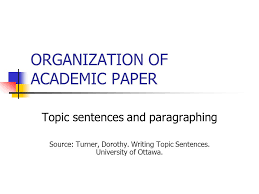 organization of academic paper ppt video online  organization of academic paper