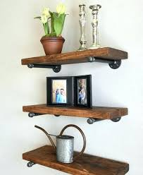 set of 3 deep floating shelves combo wood rustic wall pipe how to make level industrial rustic shelf