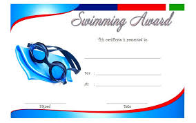 Swimming Certificate Templates Best 10 Templates