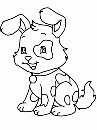 Small Picture Free Printable Dog Coloring Pages For Kids within Cute Dog