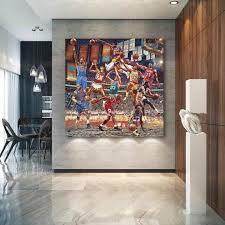 nba basketball sports canvas wall art