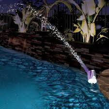 Floating Pool Fountain With Lights Color Cascade Waterfall Swimming Pool Fountain Led Light