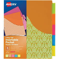 tab index cards avery big tab pocket divider dividers index cards at