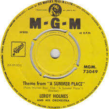 45cat leroy holmes theme from a summer place alice blue gown mgm new zealand mgm 73049