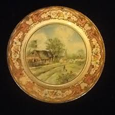 Daher Decorated Ware Tray Made In England Pair of Daher Decorated Ware Made in Holland Plates by 38