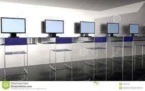 Internet Shop Interior Design Internet Cafe Stock Illustration Illustration Of Furniture