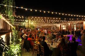 outstanding outdoor patio string lights for outdoor party string bulb lighting and backyard party decor ideas