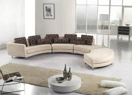round living room furniture. curved sofa and round coffee table in white modern living room furniture contemporary style t