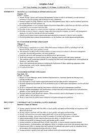 Customer Support Specialist Resume Samples Velvet Jobs