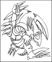 Small Picture Yu Gi Oh Blue Eyes Toon Dragon coloring picture for kids Yu Gi