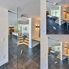 custom made all glass pivot door