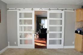 frosted glass pocket door bypass french