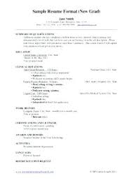 Sample New Grad Nurse Resume Graduate Nursing Resume Resume Sample ...