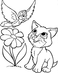 Simplistic Coloring Pages Cats Free Printable Cat For Kids