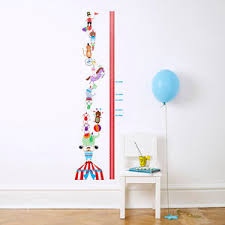 Personalised Circus Height Chart Wall Stickers
