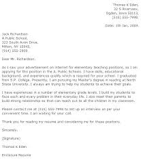 Example Teacher Cover Letters Sample Cover Letter For Teaching Position With No Experience
