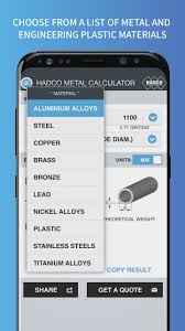 Flat Bar Weight Chart Metal Weight Calculator Smart Phones App Hadco Metal Trading