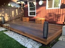 wooden patio decks traditional