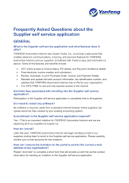 Free Electronic Invoice Frequently Asked Questions About The Supplier Self Service