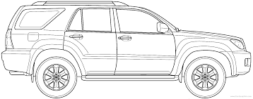 The-Blueprints.com - Blueprints > Cars > Toyota > Toyota 4Runner ...