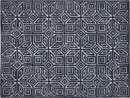 shea blue and white rug