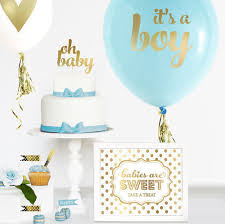 Boy Baby Shower Cake Topper Boy Gold Baby Shower Cake Topper Boy