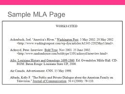 Mla Format For Articles Mla Format Resources Sample Page And Citation Examples